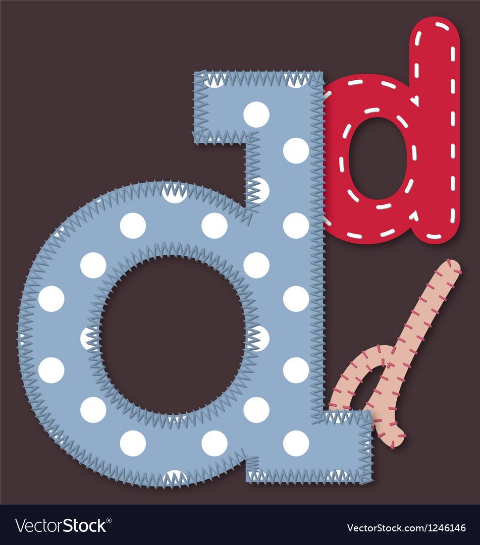 Set of stitched font - Letter D