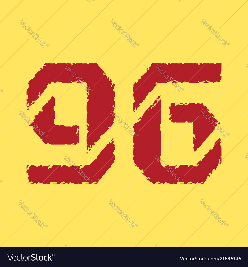 T shirt typography graphic with red number