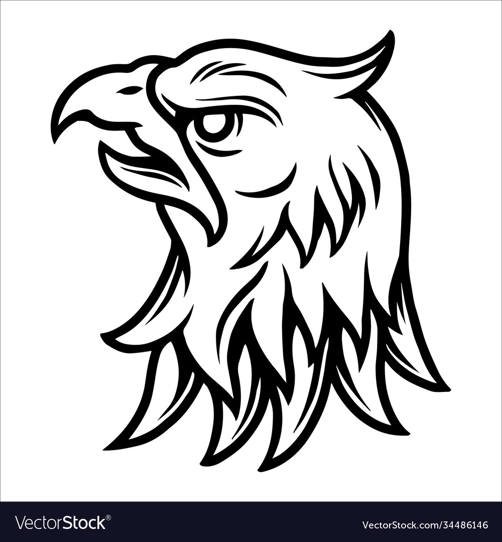 Tattoo concept strong eagle head