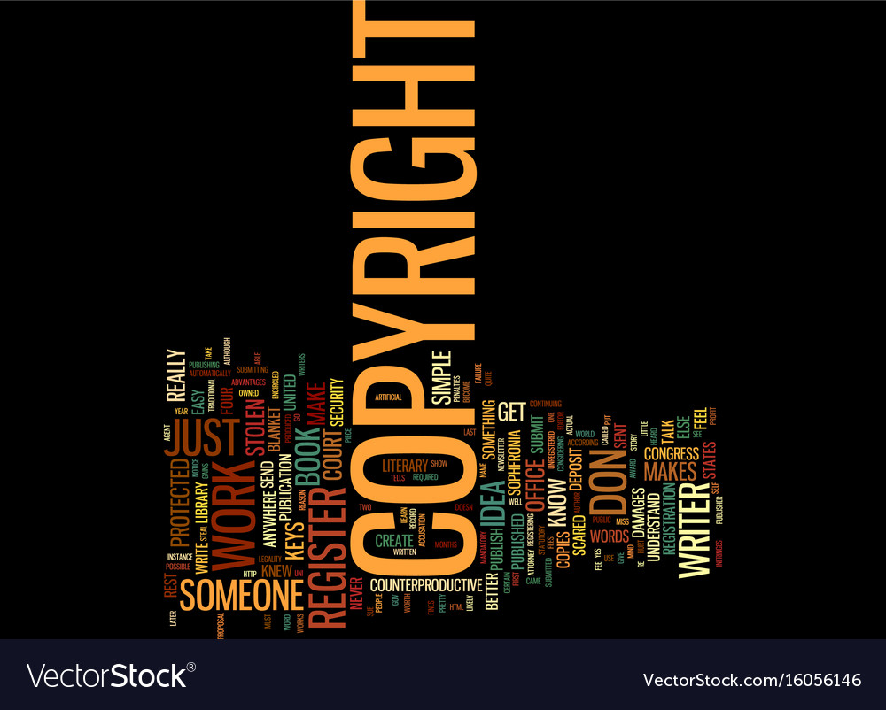The can t miss keys to copyright text background vector image
