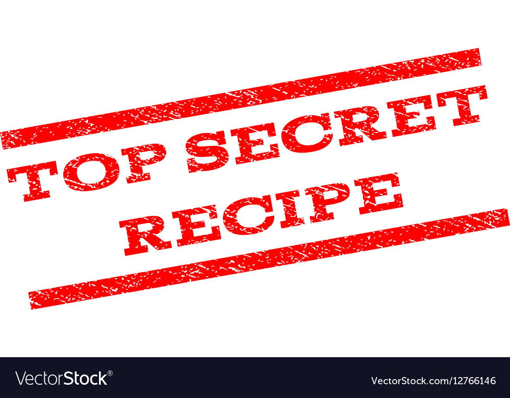 Top Secret Recipe Watermark Stamp vector image