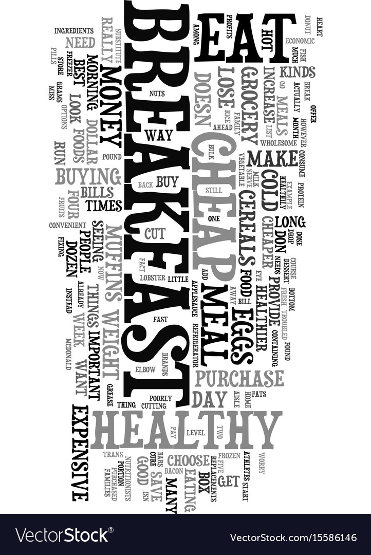 You can eat cheap but eat healthy to lose weight vector image ccuart Images