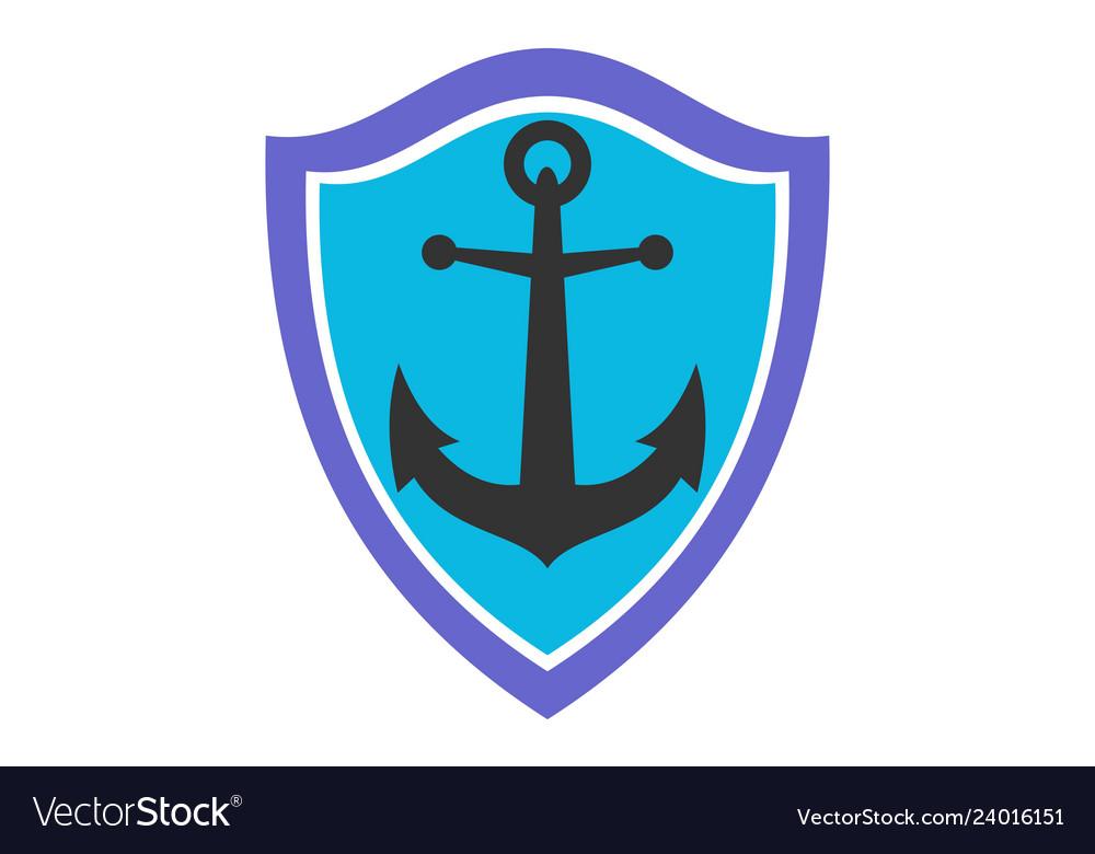 Anchor ocean protection icon logo