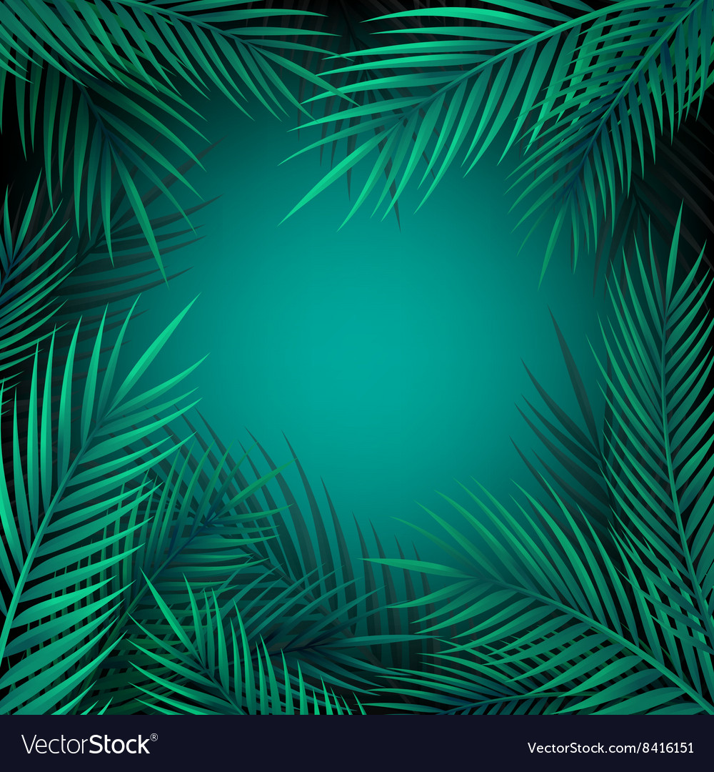 Blue jungle leaves background