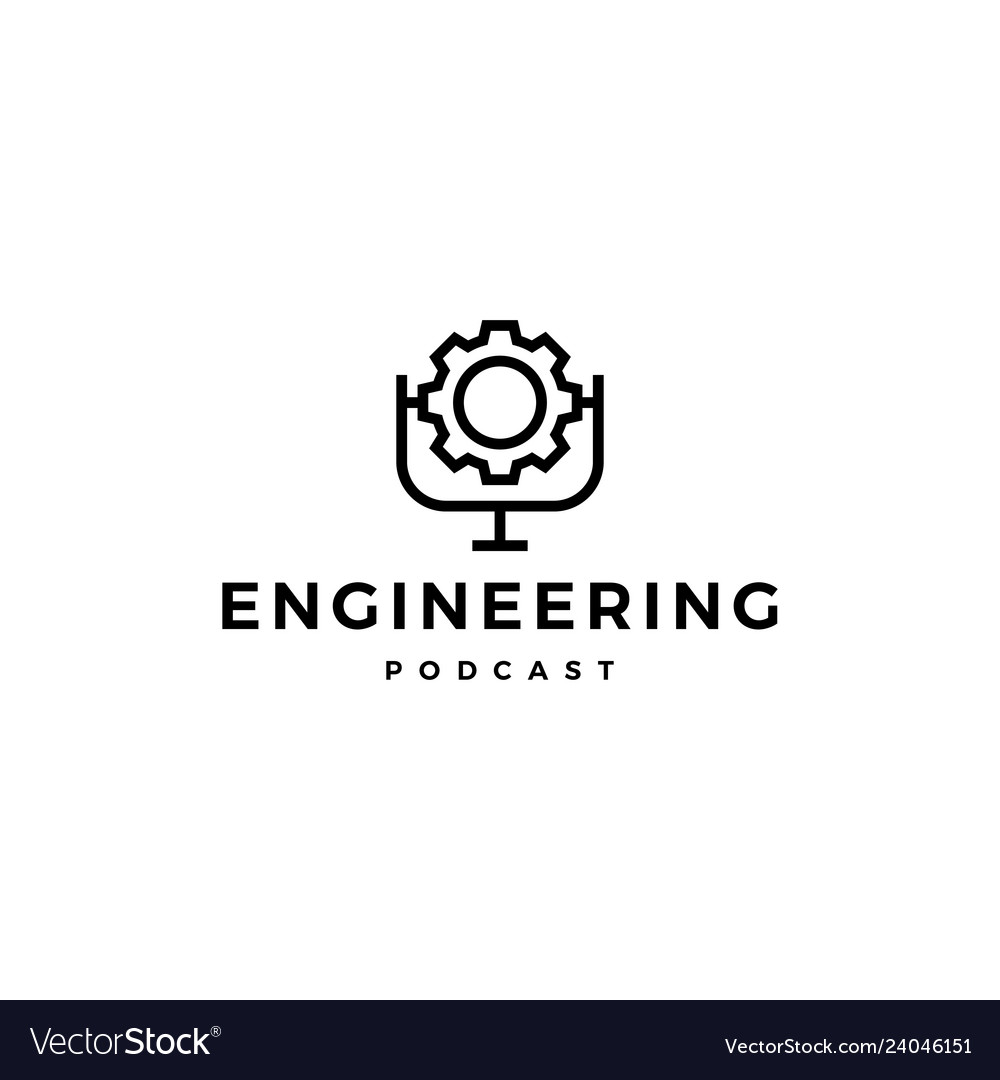 Gear podcast logo icon for engineering blog video