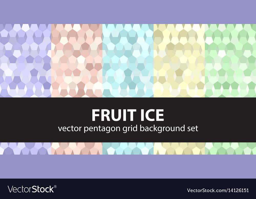 Pentagon pattern set fruit ice seamless