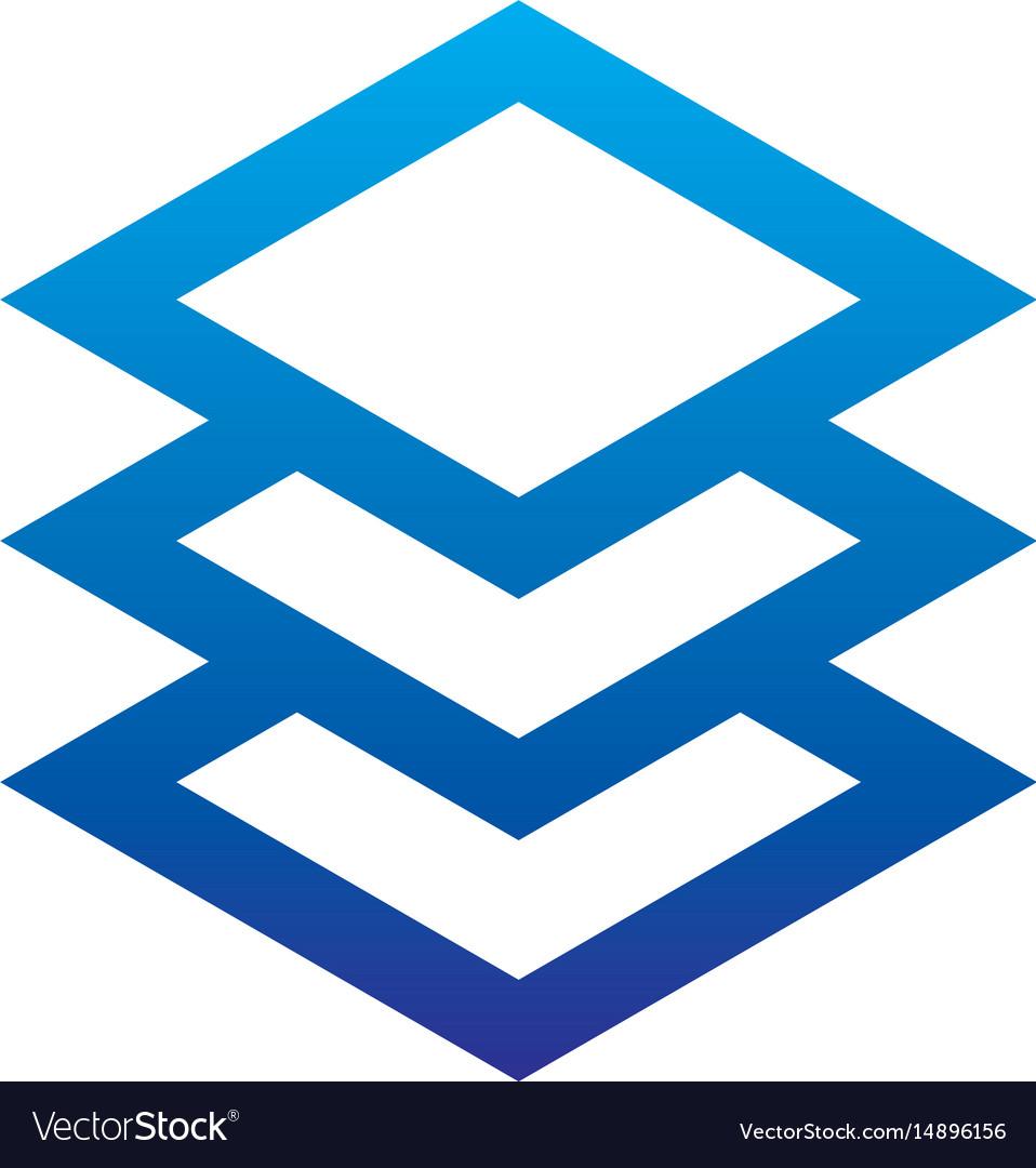 Abstract layer logo image