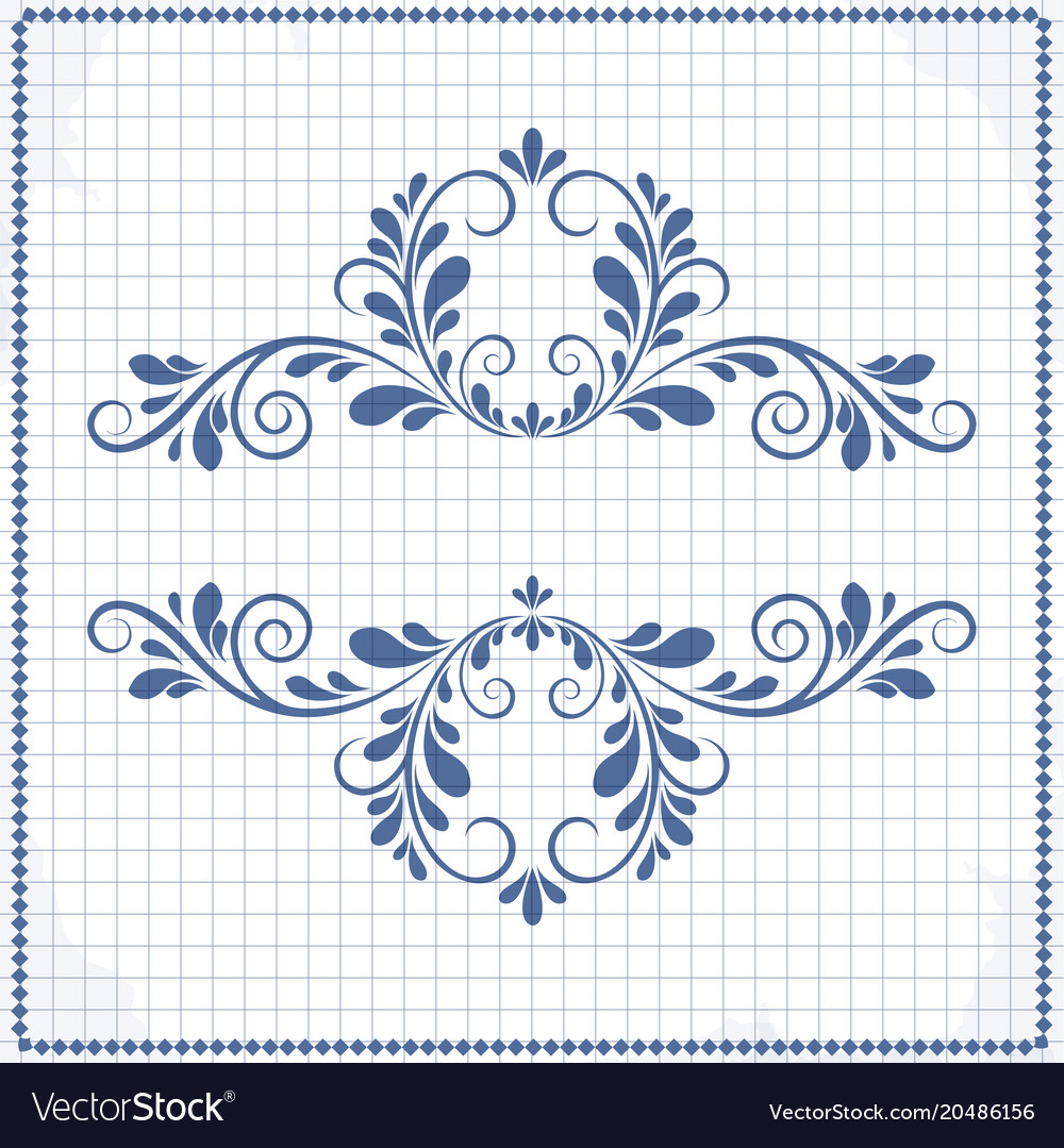 Background of a notebook with a patterned frame