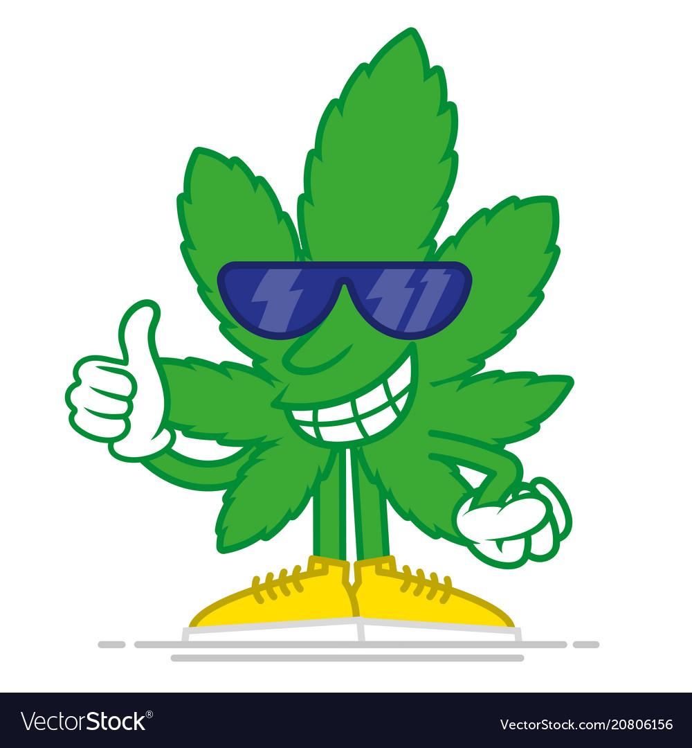 Cartoon marijuana Royalty Free Vector Image - VectorStock