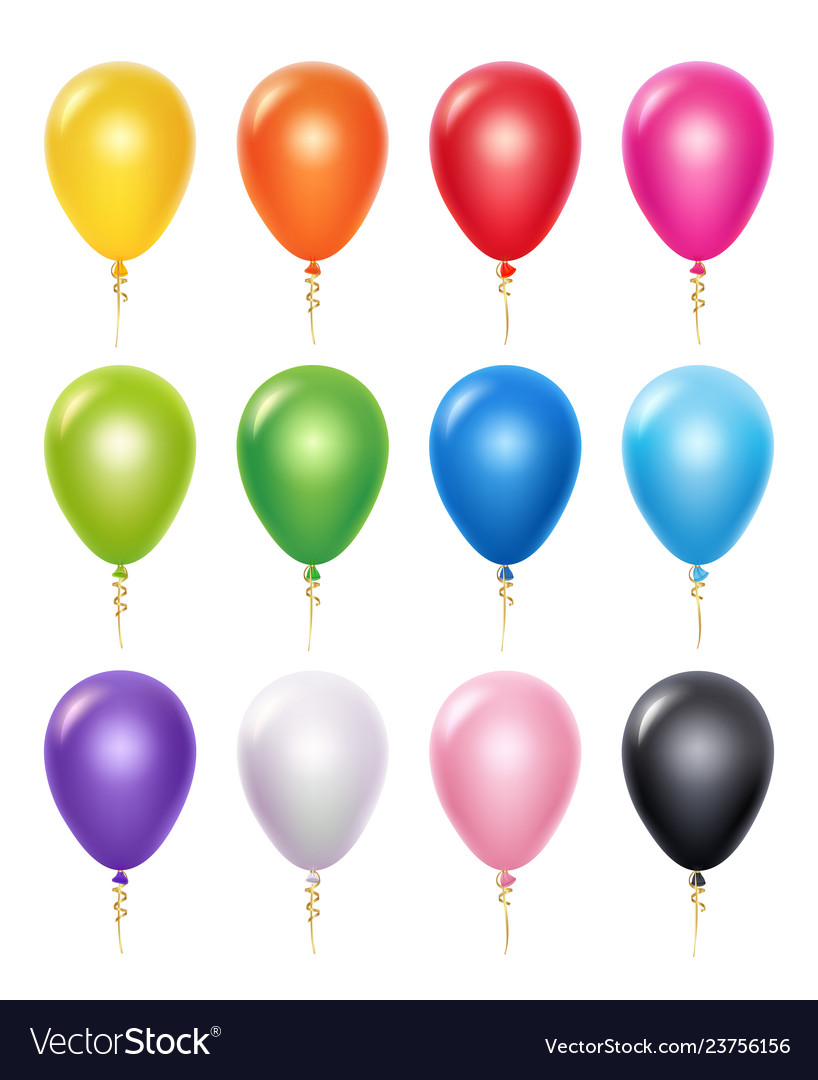 Colored balloon birthday party decoration