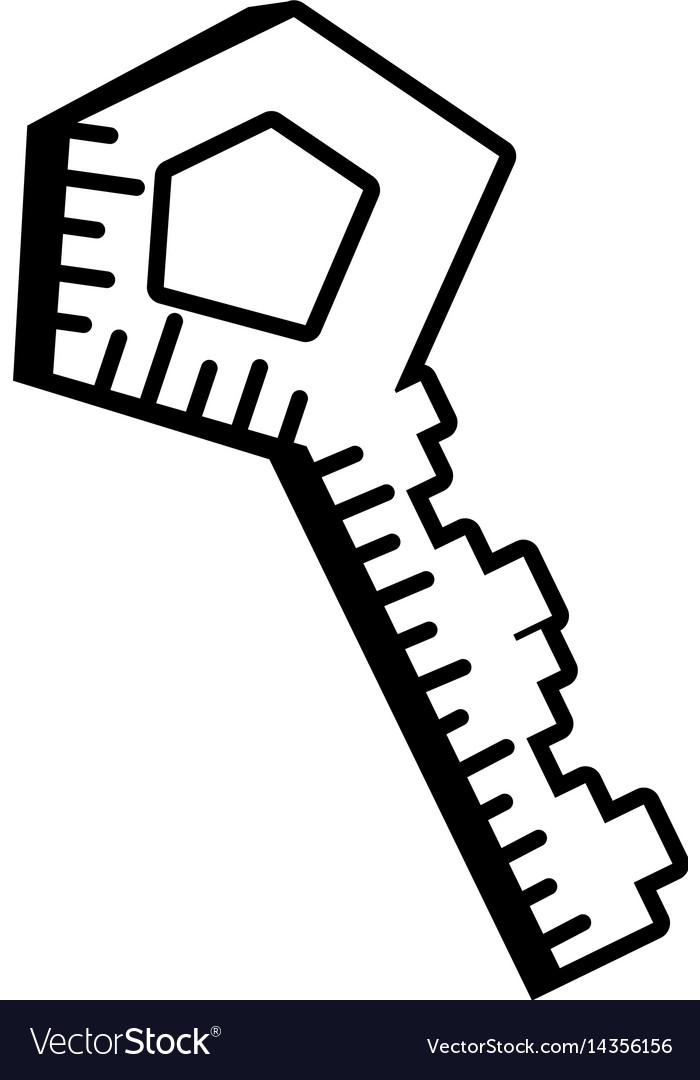 Key door lock outline