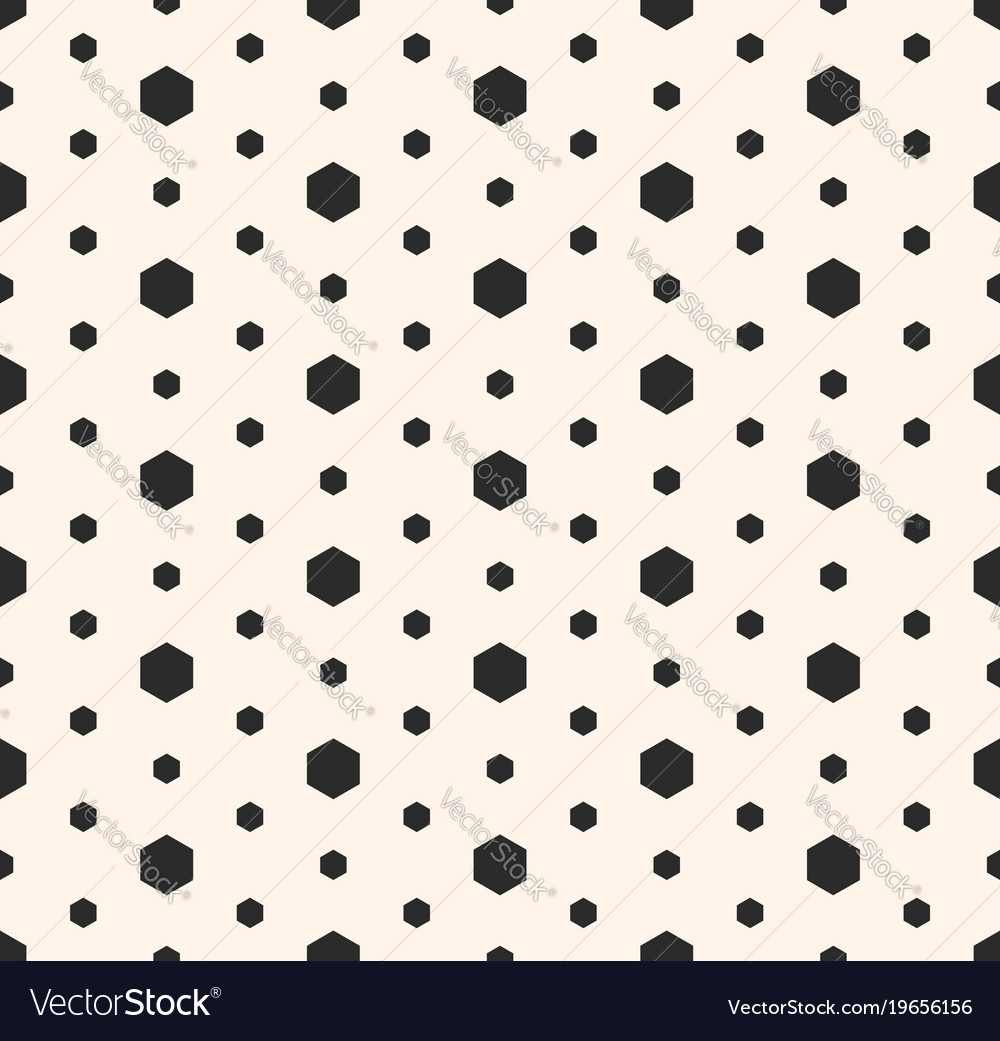 Minimalist seamless pattern with small hexagons