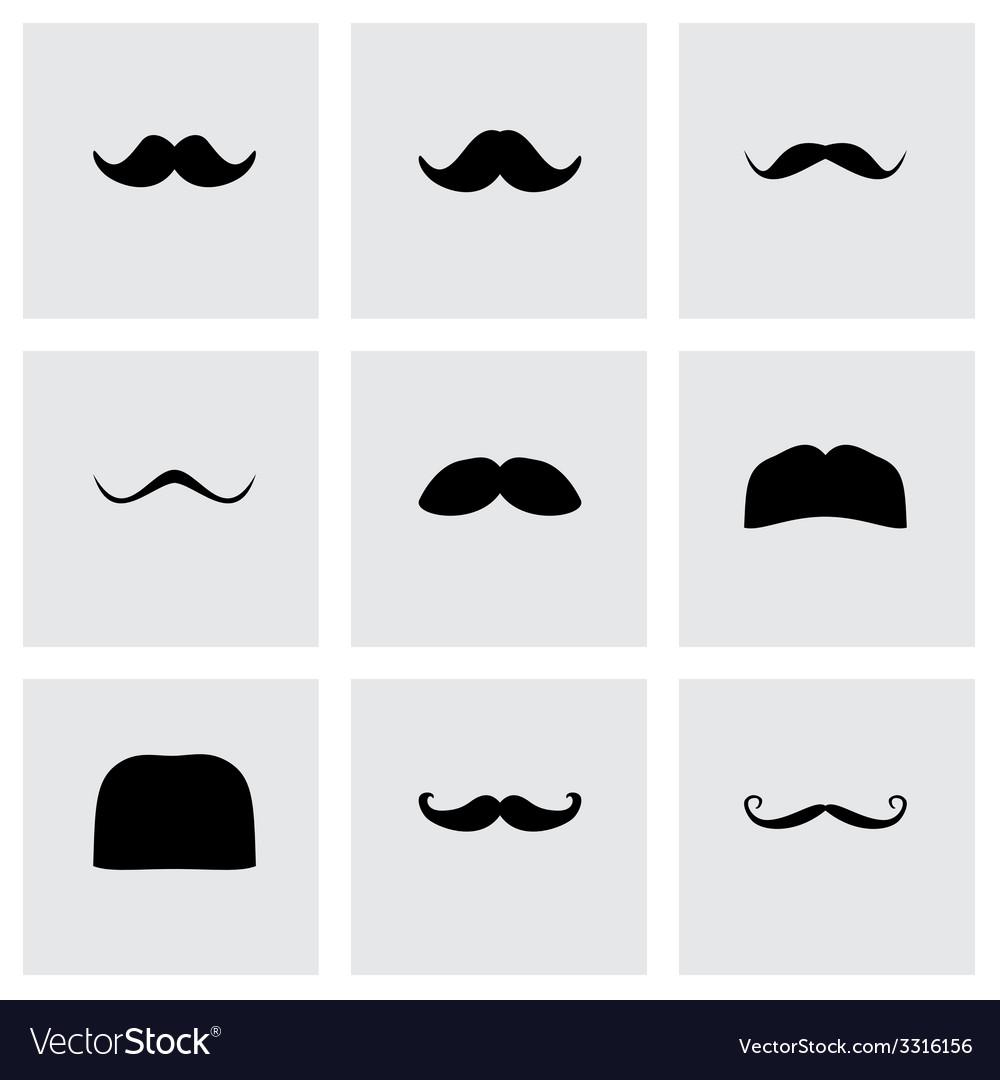 Moustaches icon set