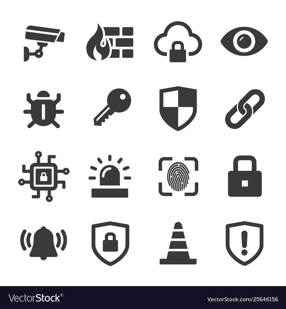 Security icon set for web and app