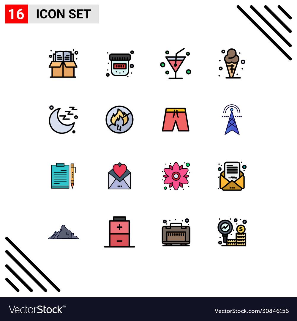 Set 16 Modern Ui Icons Symbols Signs