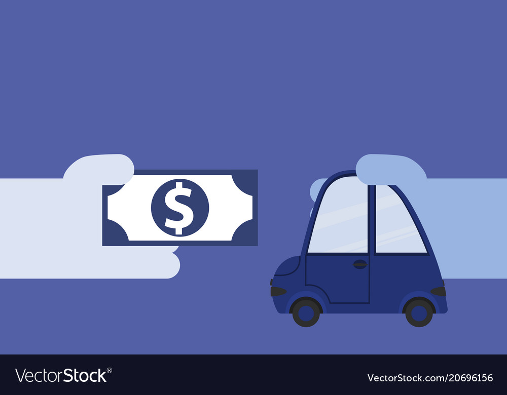 The concept of buying a car vector image