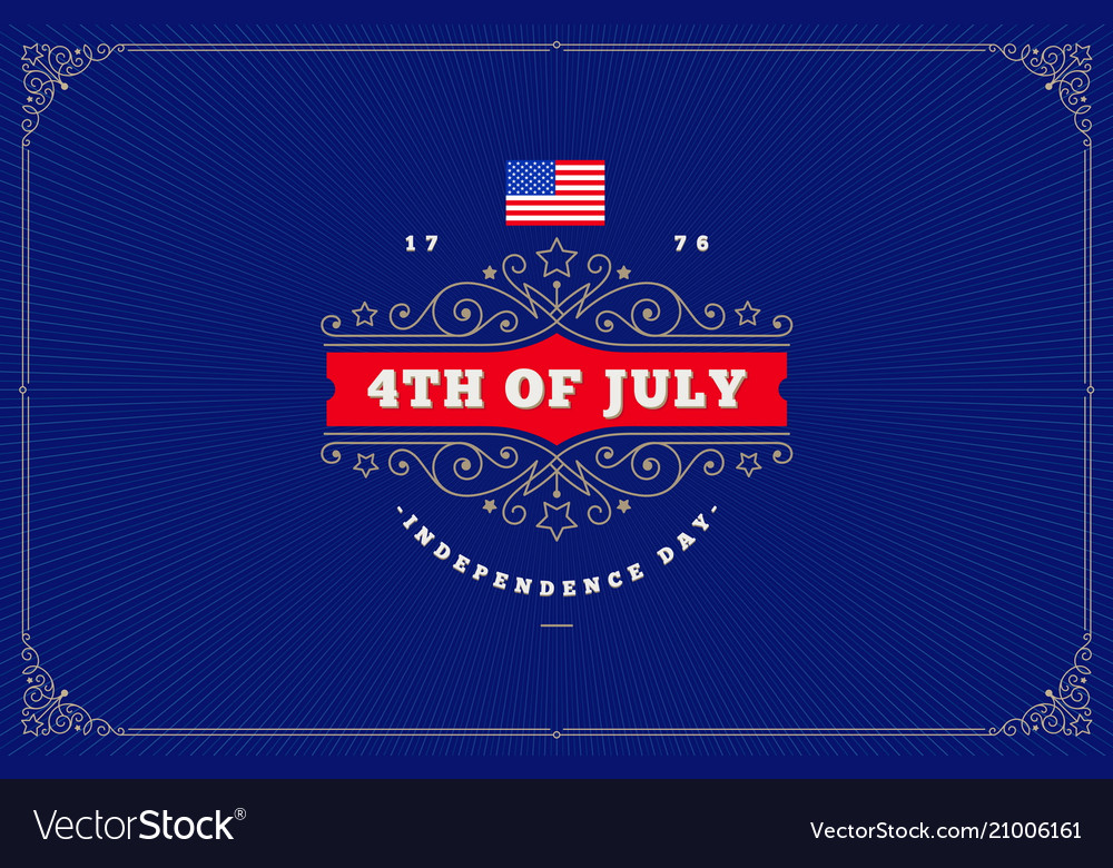4th of july independence day - greeting design