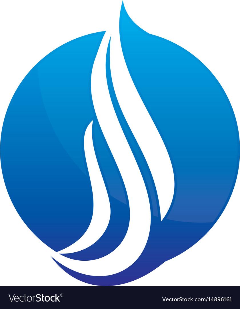 Abstract circle wave logo image