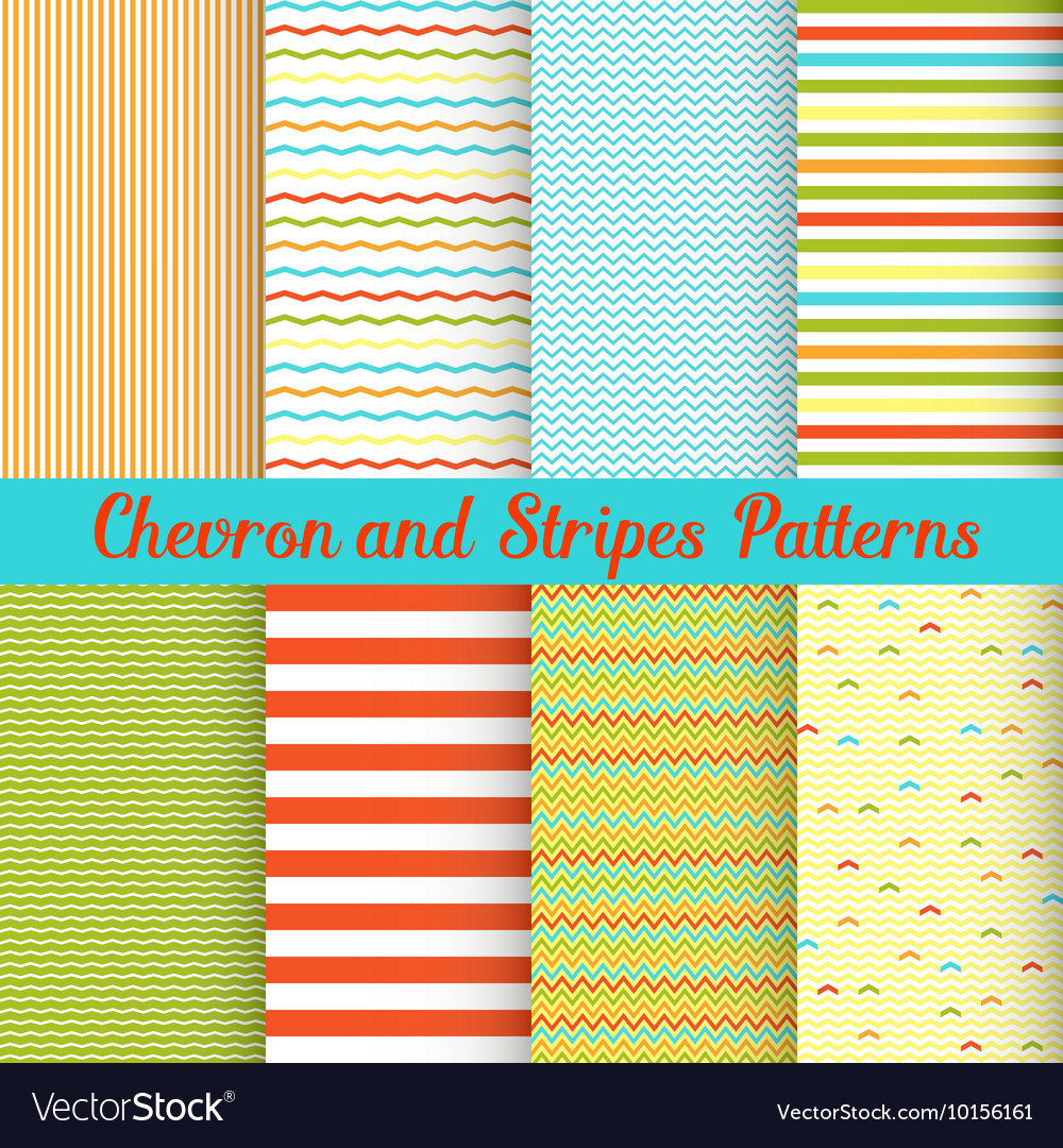 Chevron and Stripes patterns set