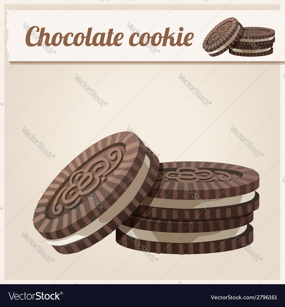 Chocolate cookie Detailed Icon Series of food and