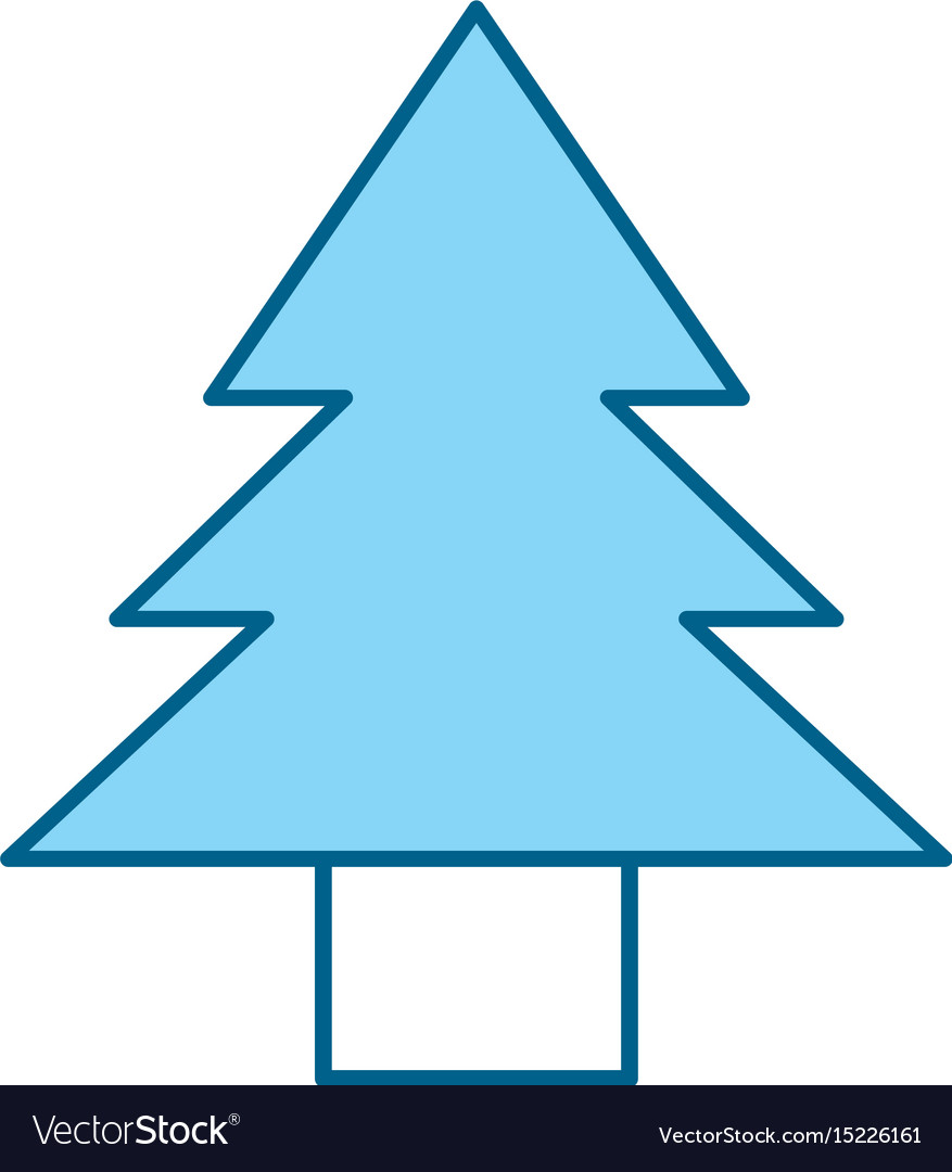 Cute blue tree cartoon