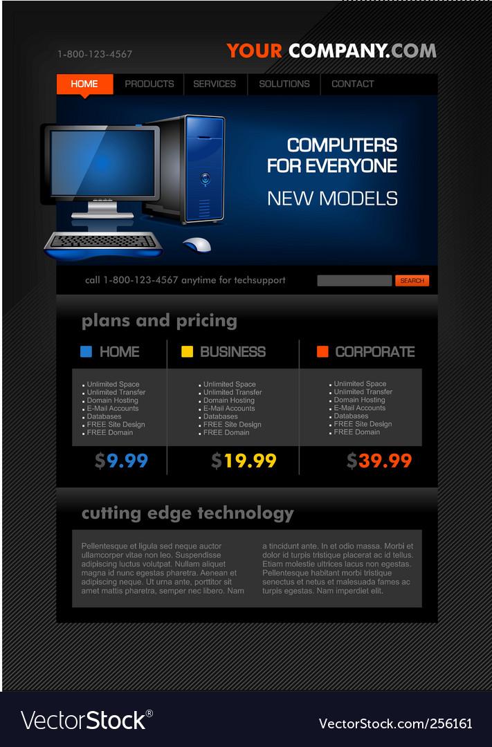 Desktop computer shop web temp