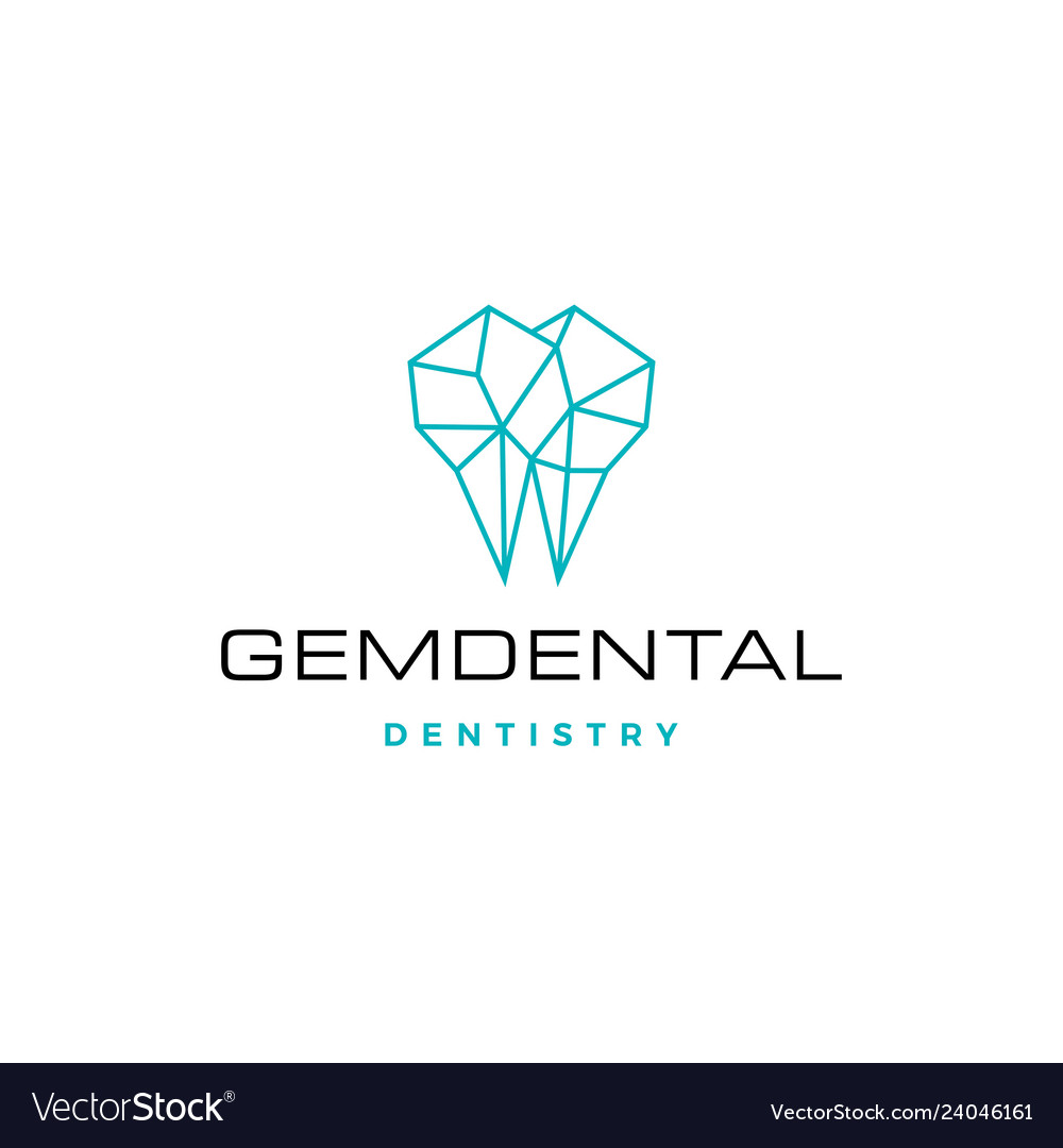 Gems dental logo for dentist and dentistry