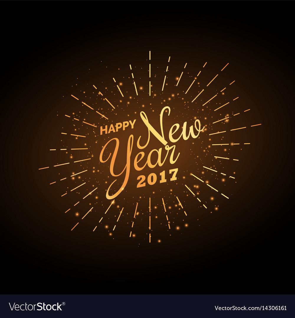 Happy new year 2017 celebration background in