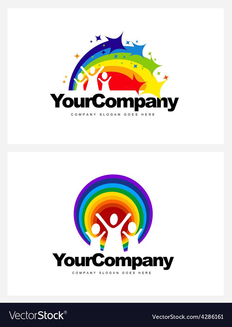 Kindergarten Logo Design vector image