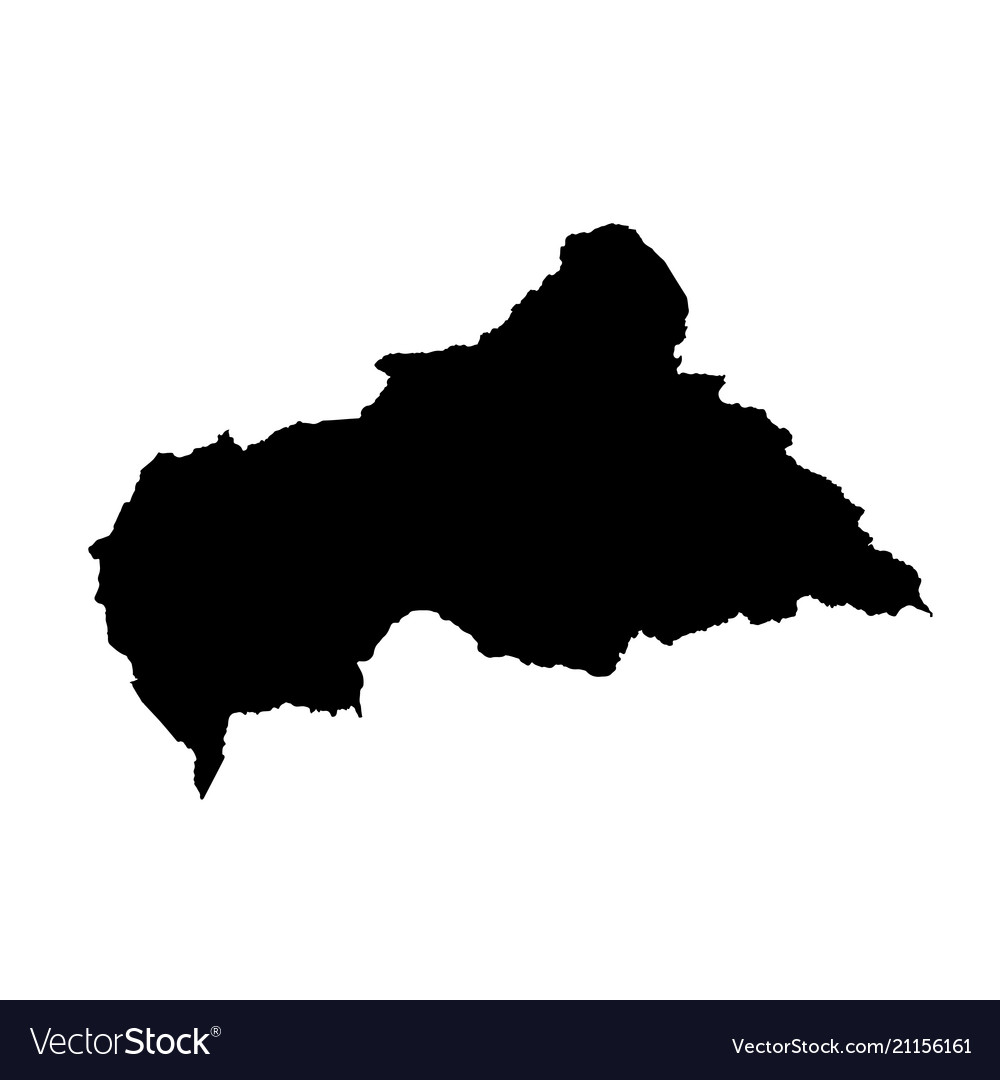 Map central african republic isolated