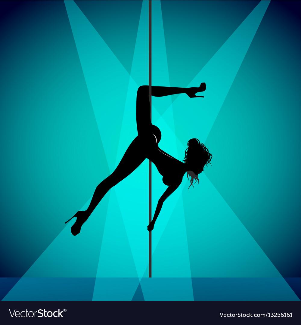 Pole dancer girl vector image