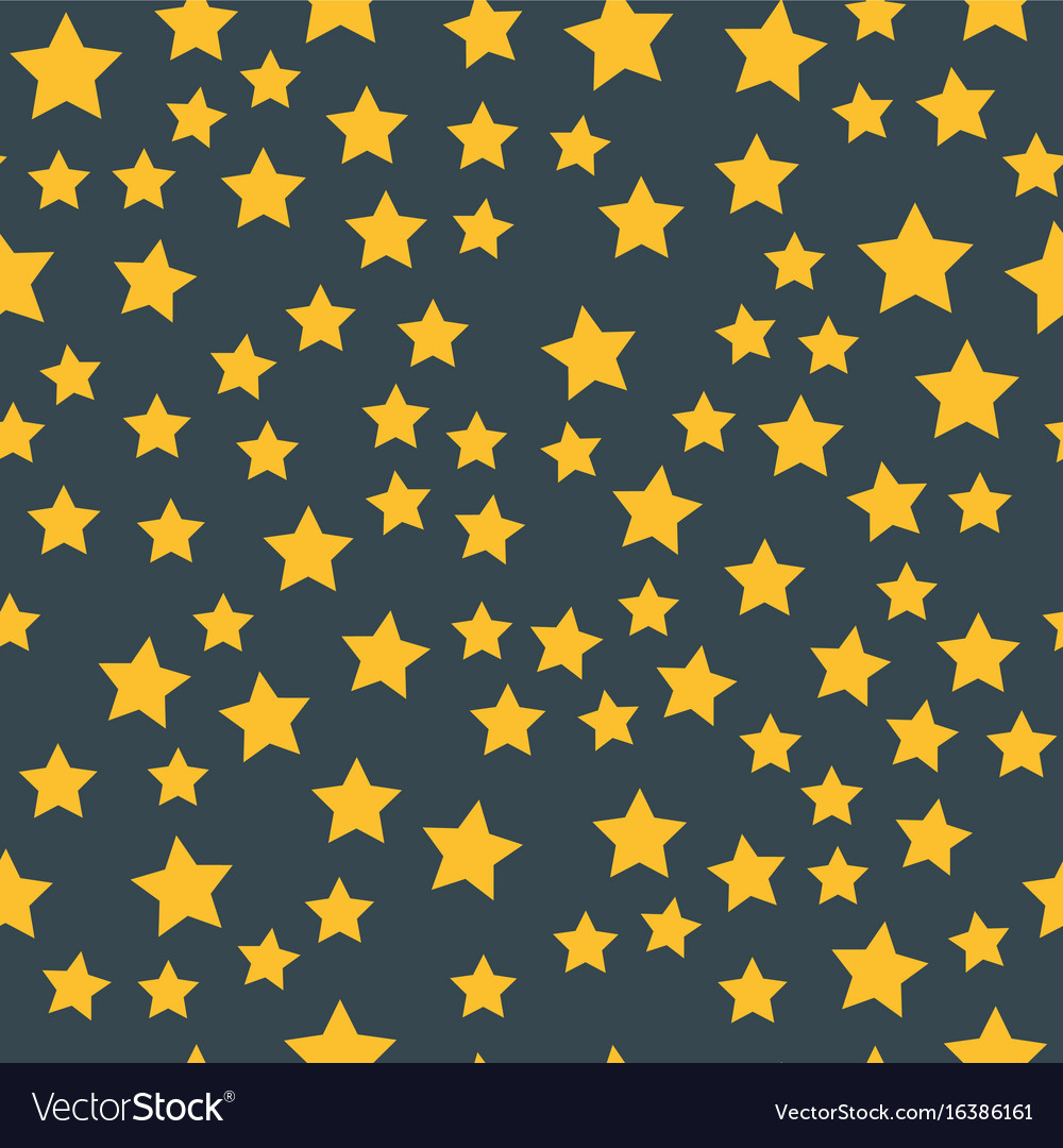 Shiny star seamless pattern pointed pentagonal