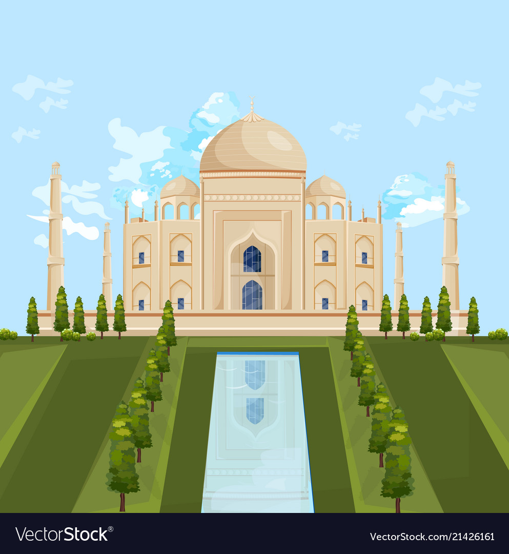 Taj mahal india famous building attraction