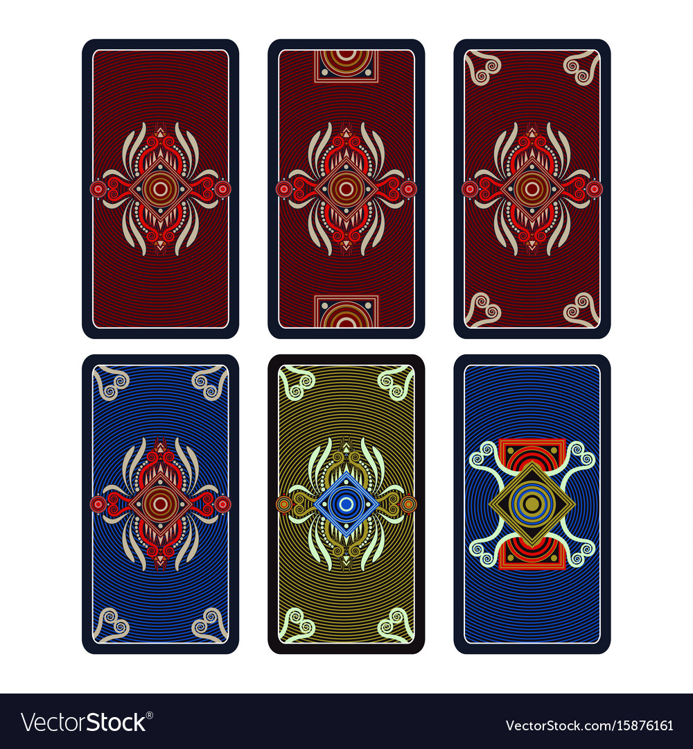 Template ornament for tarot and playing