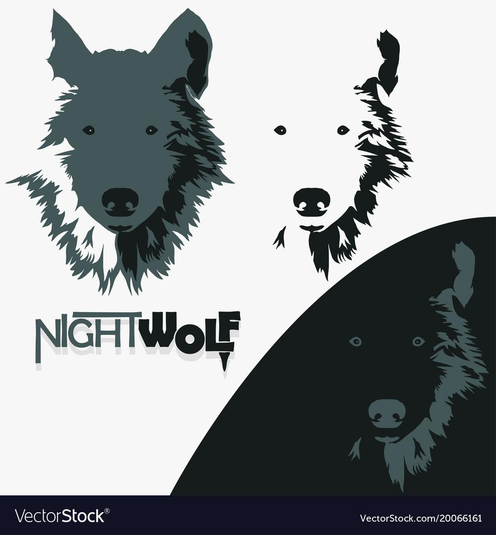 Wolf bolt emblem mascot head silhouette