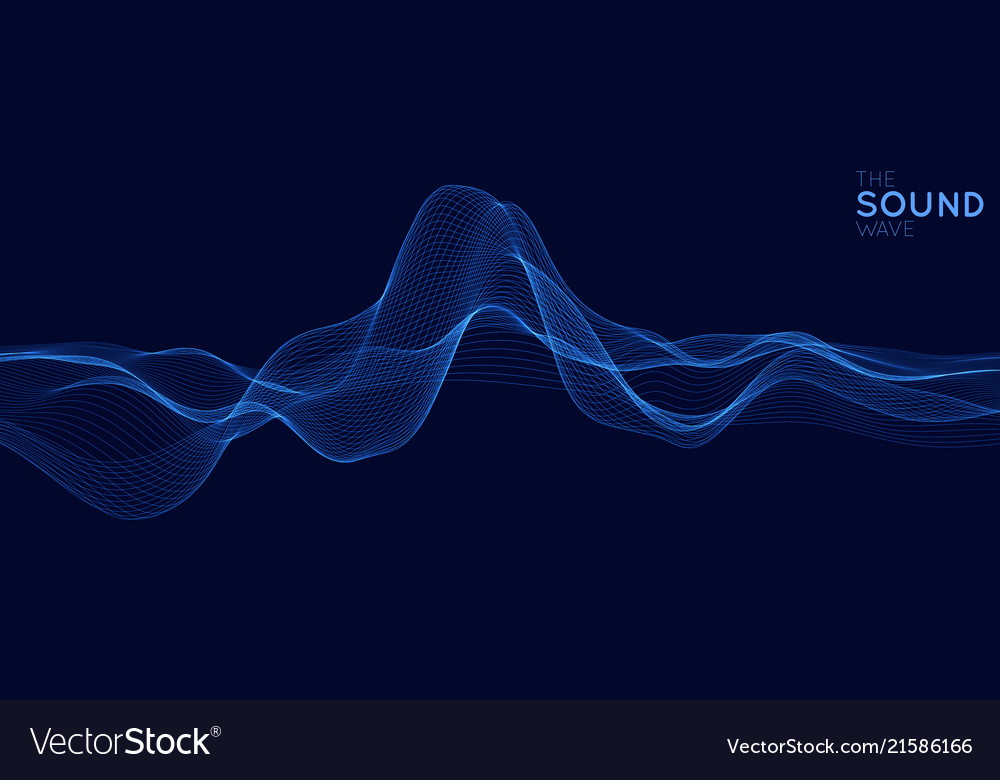 Abstract blue digital equalizer with