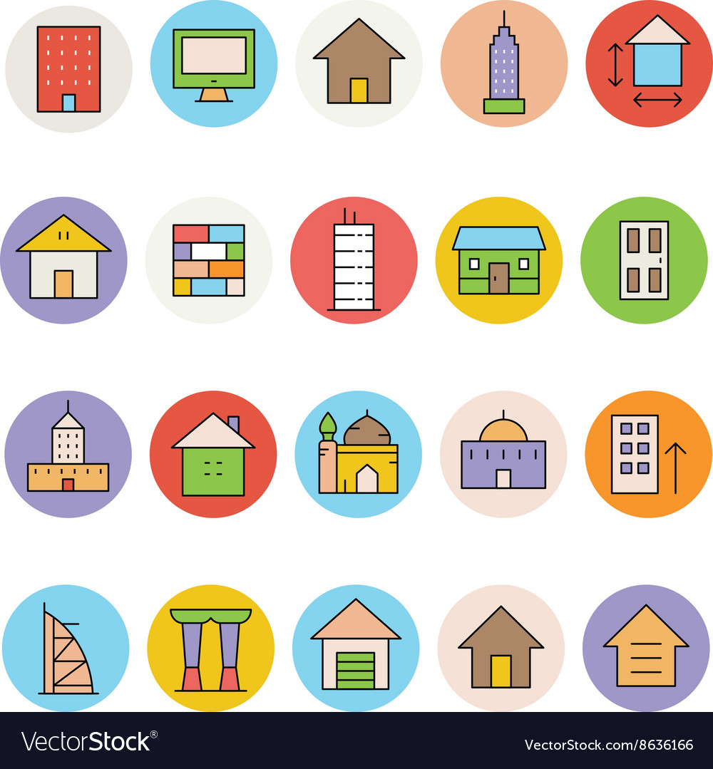 Architecture and Buildings Icons 3