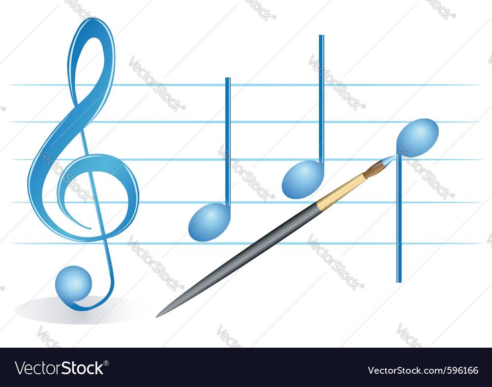 Brush treble clef vector image