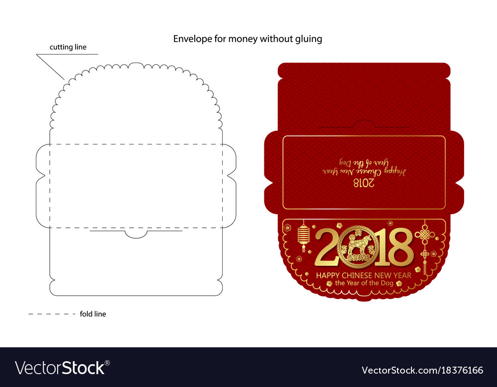 Chinese new year red envelope flat icon
