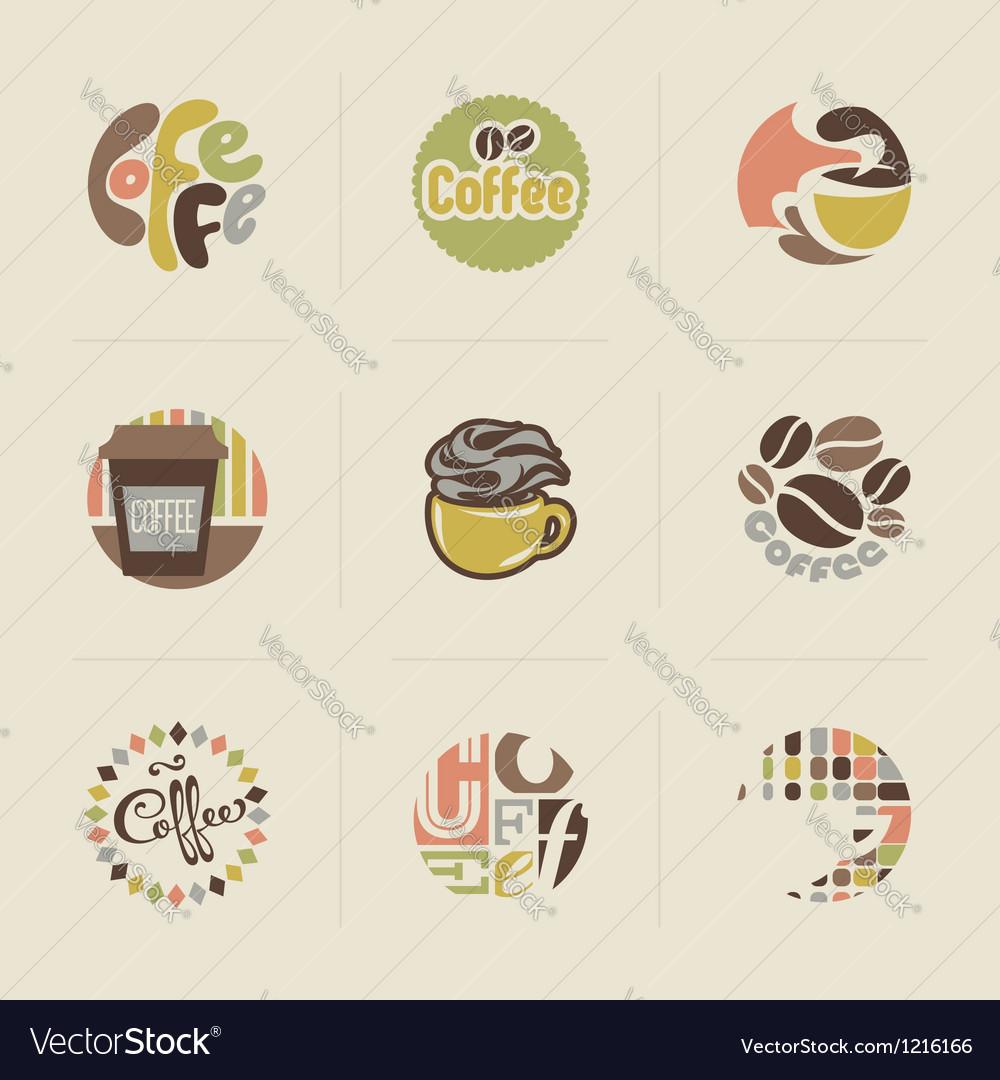 Retro coffee emblems
