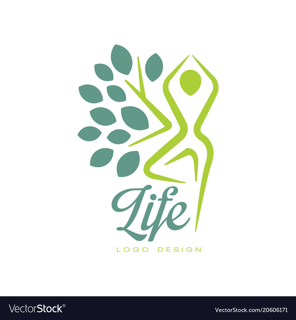 Colorful life logo design with abstract human