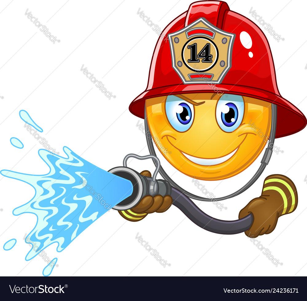 Fireman emoticon vector image