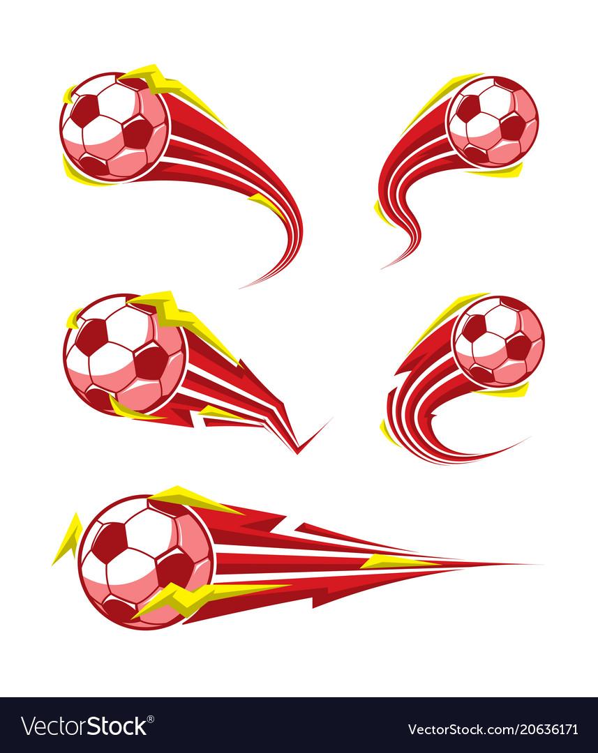 Football and soccer symbols set vector image