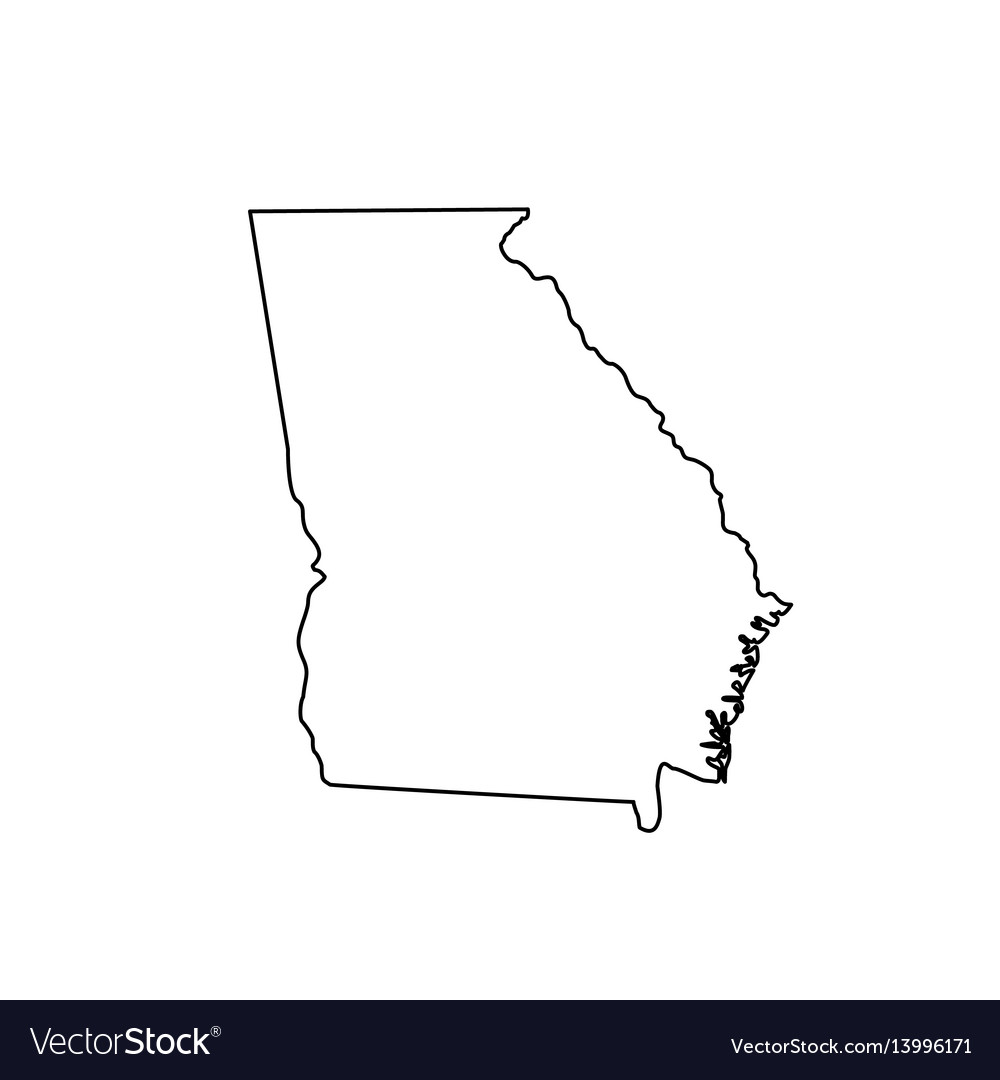 Map us state georgia