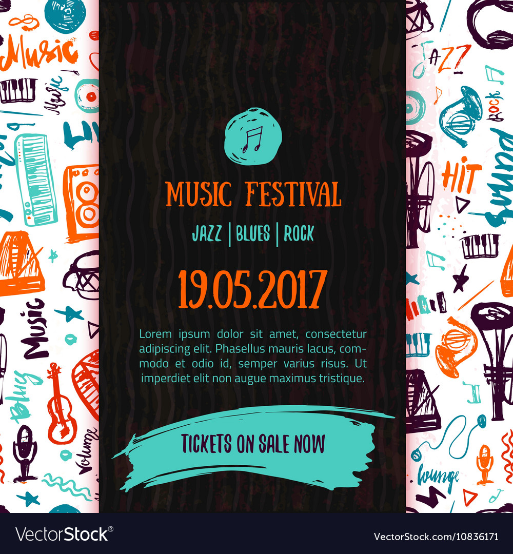 Music concert poster template Can be used