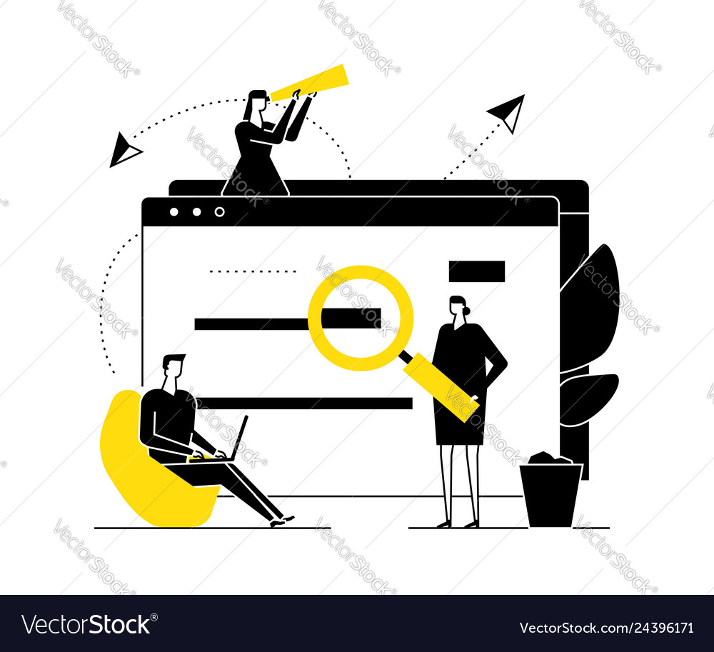 Search concept - flat design style