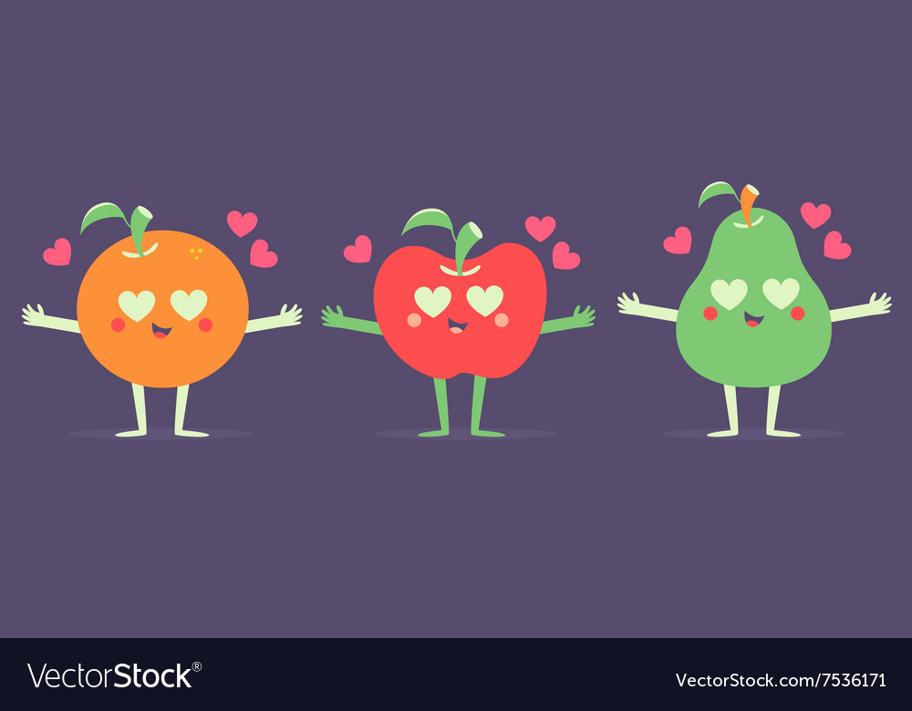 Set of Fruits in Love