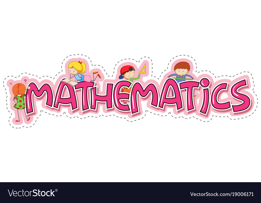 word design for mathematics royalty free vector image