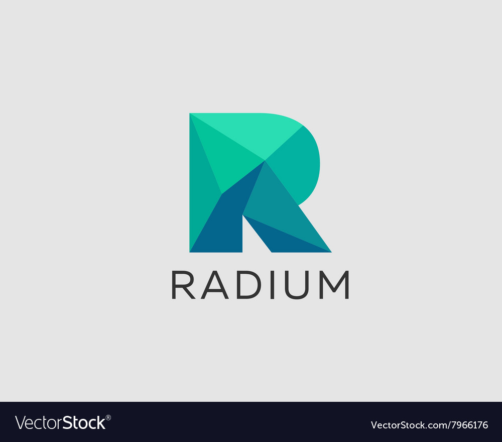 Abstract trend polygon letter r logo design vector image thecheapjerseys Images