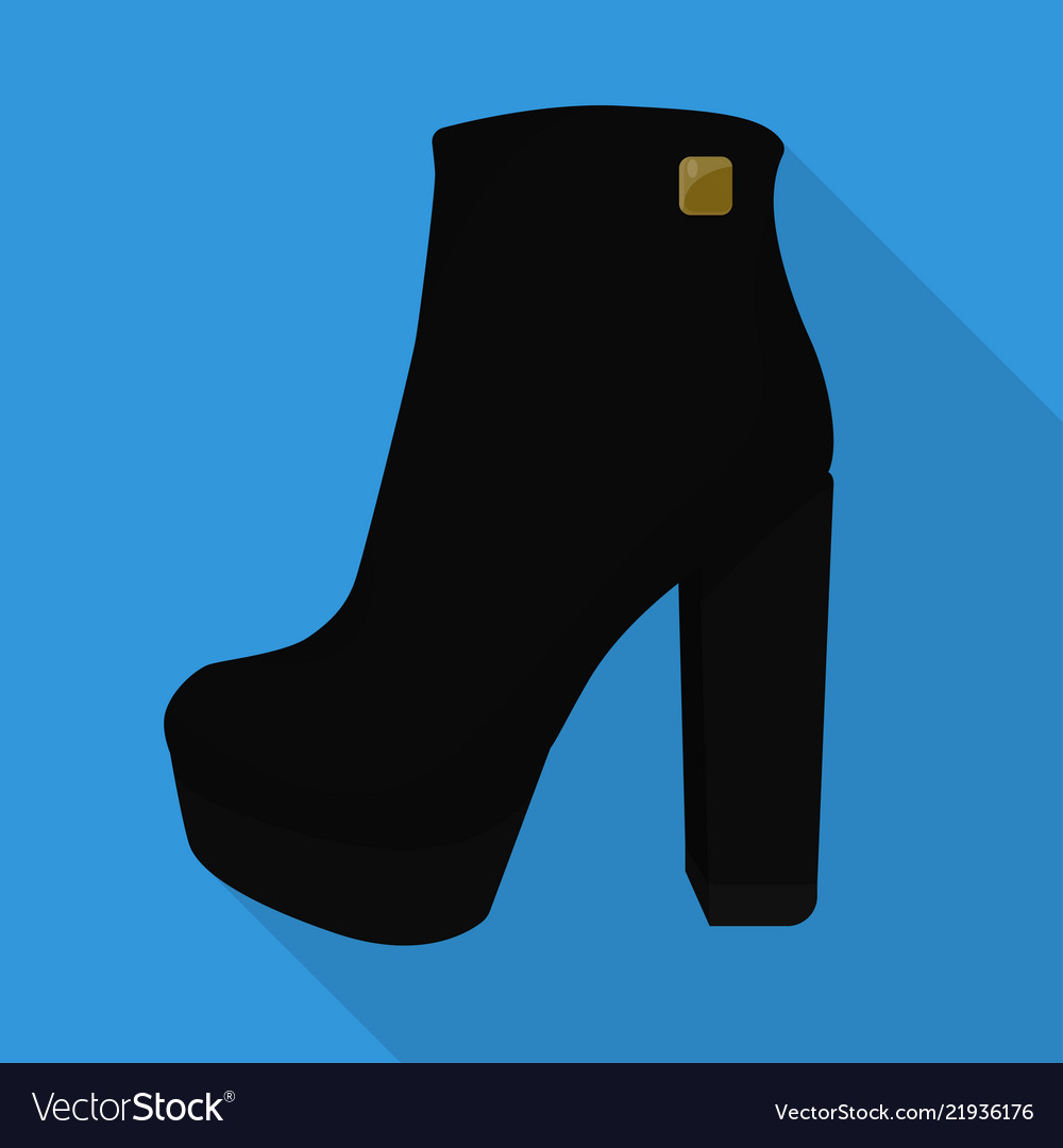 Chunky woman boots isolated flat icon